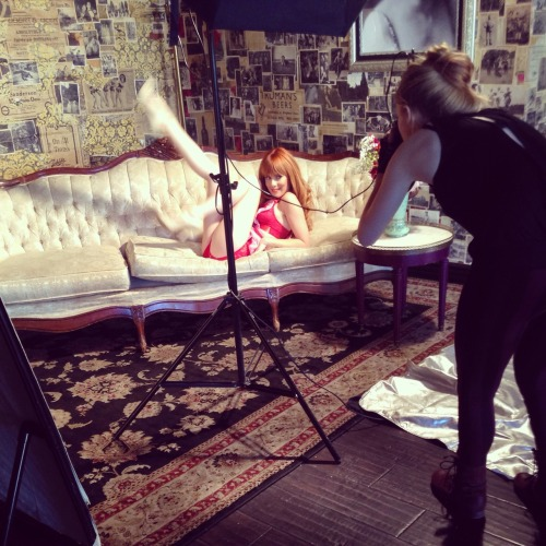 Behind the scenes2015 Candace Campbell CalendarPreorder yours now! http://candacecampbell.bigcartel.com/