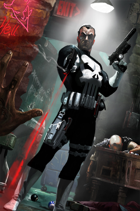 westcoastavengers:  Punisher by Ryan Barger