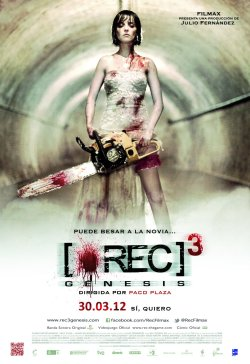 [REC]³ Génesis (2012) I really liked [REC] (2007) and even thought the second one was decent. Unfortunately, this is what made me kind of hate this film. It largely ignores the first two films, and goes off on its own tangent. It abandons the found footage style after the first act, which would be fine if the direction was any good, but it isn't. I held out hope for the film, right up until the suits of armour came into it. The whole thing just devolves into a below average zombie flick. The comedic elements were totally lame and unnecessary. All of the characters are idiots, and the actors aren't any good either. I found myself simultaneously amused and angered at how incredibly stupid the entire movie was. I truly hope the series can redeem itself with the final film.
