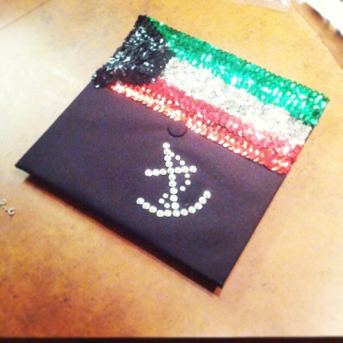 My decorated cap #kuwait # navy