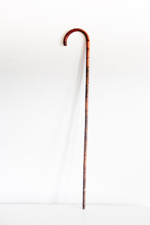(via Vintage Wooden Shepherd's Crook Cane by BrightWallVintage on Etsy)