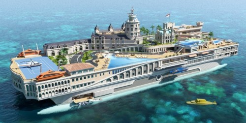 """ Houseboat Plus +++ ""  …..  'The Streets of Monaco' concept design by Yacht Island Design  More here: http://www.yachtislanddesign.com/concepts/"