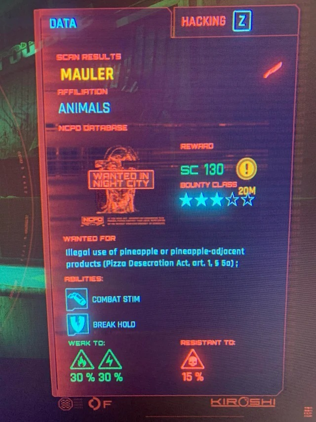 Cyberpunk 2077 kepsleri...