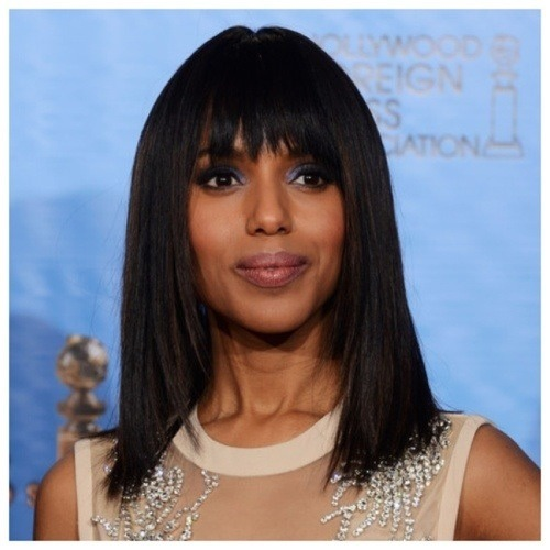 Kerry Washington during awards season 2013 - love this look! #Manhattan #bangs