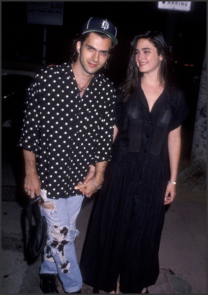 Dweezil Zappa & Jennifer Connelly, 1990