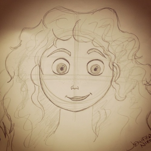 I drew merida!! (: @reaganaa  #merida #brave #pixar #disney #world