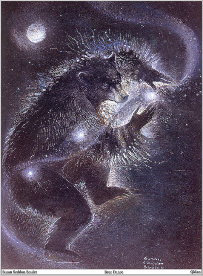 oldpainting:   Susan Seddon Boulet, Shaman Bear Dance on Flickr. Click image for 1105 x 1500 size.