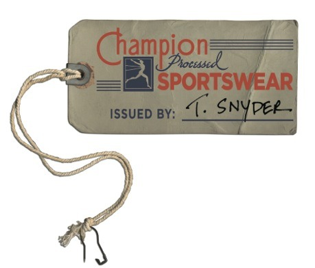 Champion Running Man Reproduction Hang Tag. Waiting in anticipation.