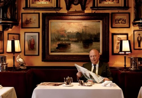 Julian Fellowes for Vanity Fair, photographed by Simon Upton, Produced by The Production Club