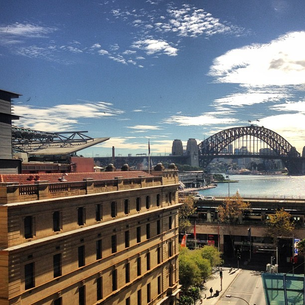 Don't think you could ever get sick of this view. #sydney #sun #cloudporn #sydneycity #harbour #harbourbridge #pretty #water #view #happy #lovesydney