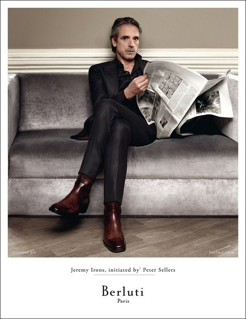 thesnobreport:  Jeremy Irons by Jean-Baptiste Mondino for The House of Berluti