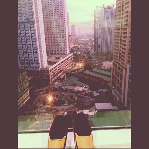 Good morning! (Greeting from 22nd floor! Haha) 😊🌅🌇🏢 #InstaSize (at Robinsons Cybergate Tower 2)