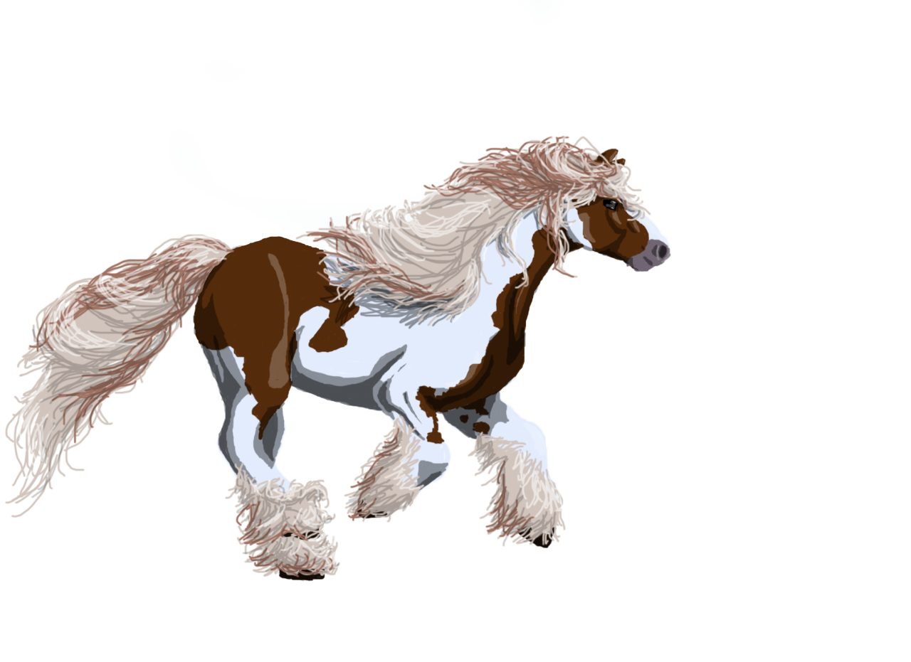 I made a horse in Photoshop. Not much else to say.