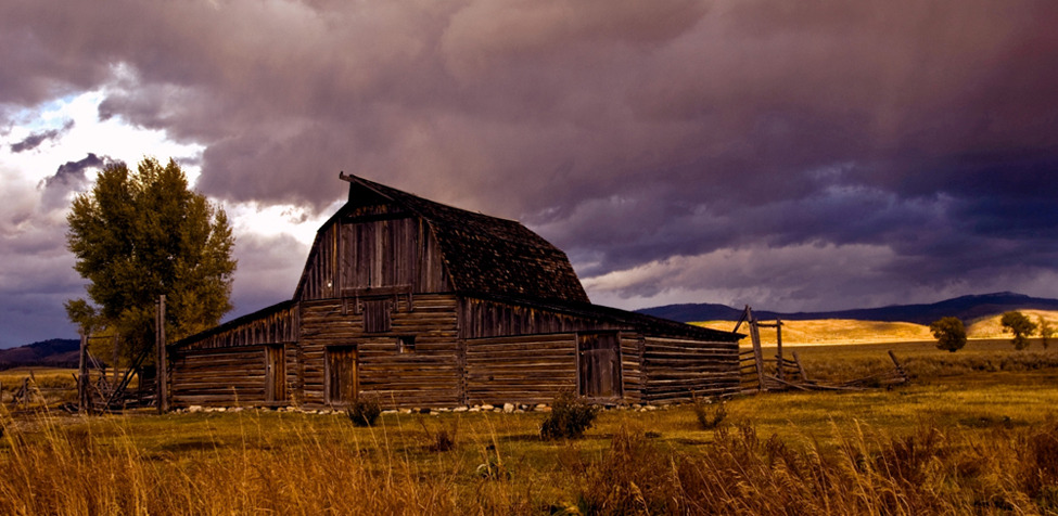 Photo of the Day: Stormy Sunset at Moulton Barn Photo By: Brian Kerls (Denver, CO); Grand Teton National Park, Wyoming