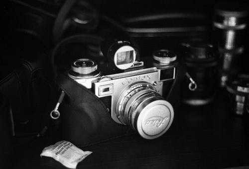 Contax IIa on Flickr.Via Flickr: Leica M3 and Leitz 50mm f/2 Summicron DR Fujifilm Neopan 1600 developed @ 3200 in Xtol (1:3) … Thanks to Bill Allen for lending me his dual range Summicron!