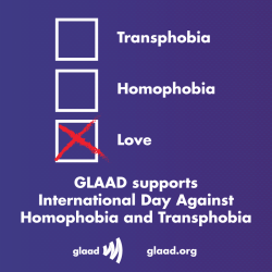 We support International Day Against Homophobia and Transphobia