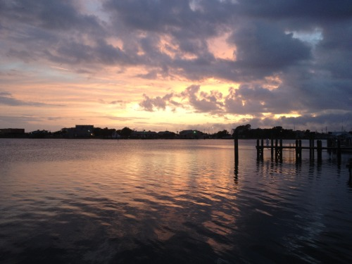 bringinghomebeaufort:  sunset from the Rhum Bar, Beaufort, NC (ours)
