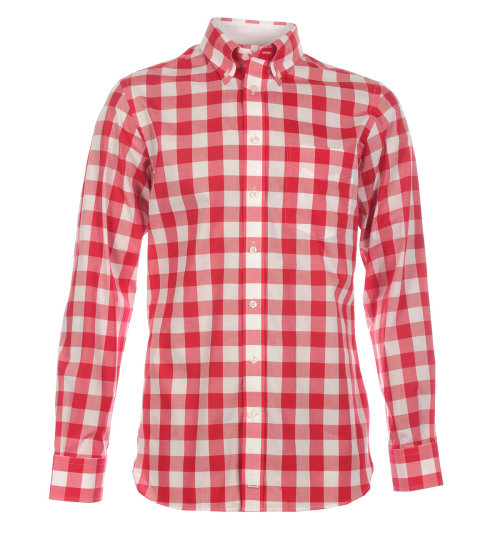 Hackett Brompton Super Gingham Shirt Remember that series a few years ago, British Style Genius? Remember when that old skin talked about the size of your checks being directly correlated to your clout in the skinhead world? Well, the Brompton 'Super Gingham'  from Hackett takes that claim to task. Yes these checks are enormous but work so well for summer. Complete with a button down collar, Hackett nails it again with their no nonsense sportswear.