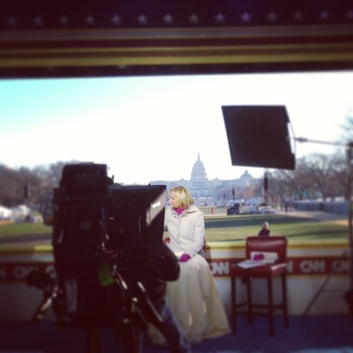 CNN on the Mall.  (at National Mall)