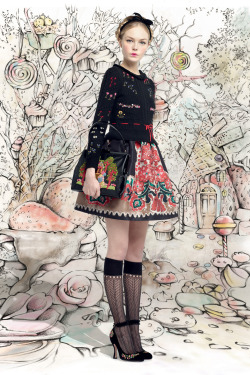 Siri Tollerød for Red Valentino F/W 2013-14.