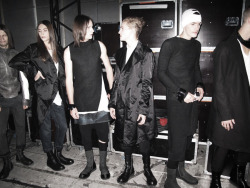 edge-to-edge:  RICK OWENS MENSWEAR S/S10 BACKSTAGE (via Dazeddigital.com)