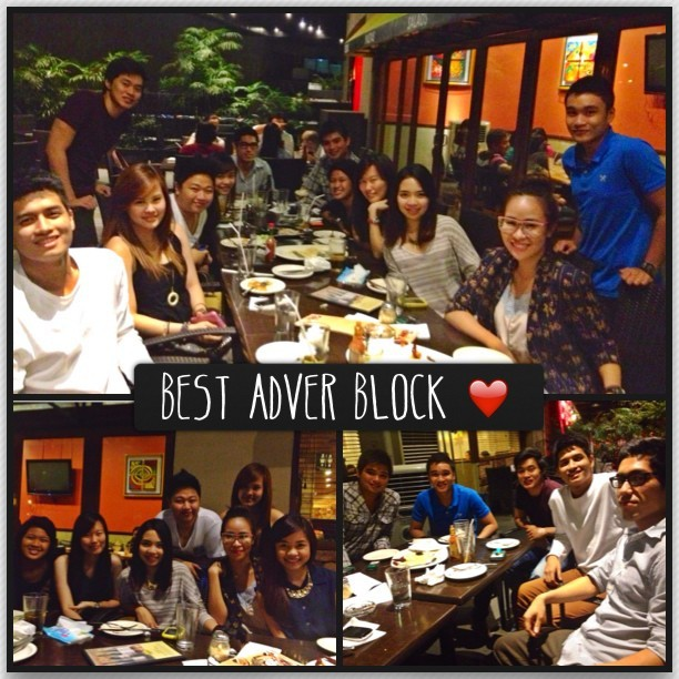 Christmas dinner with my lovely Adver block ❤
