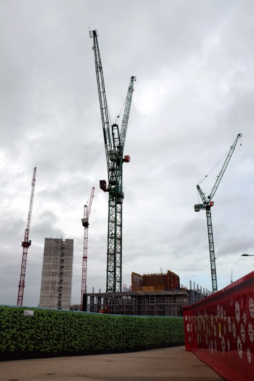 Somers Town cranes. London, December 2012.