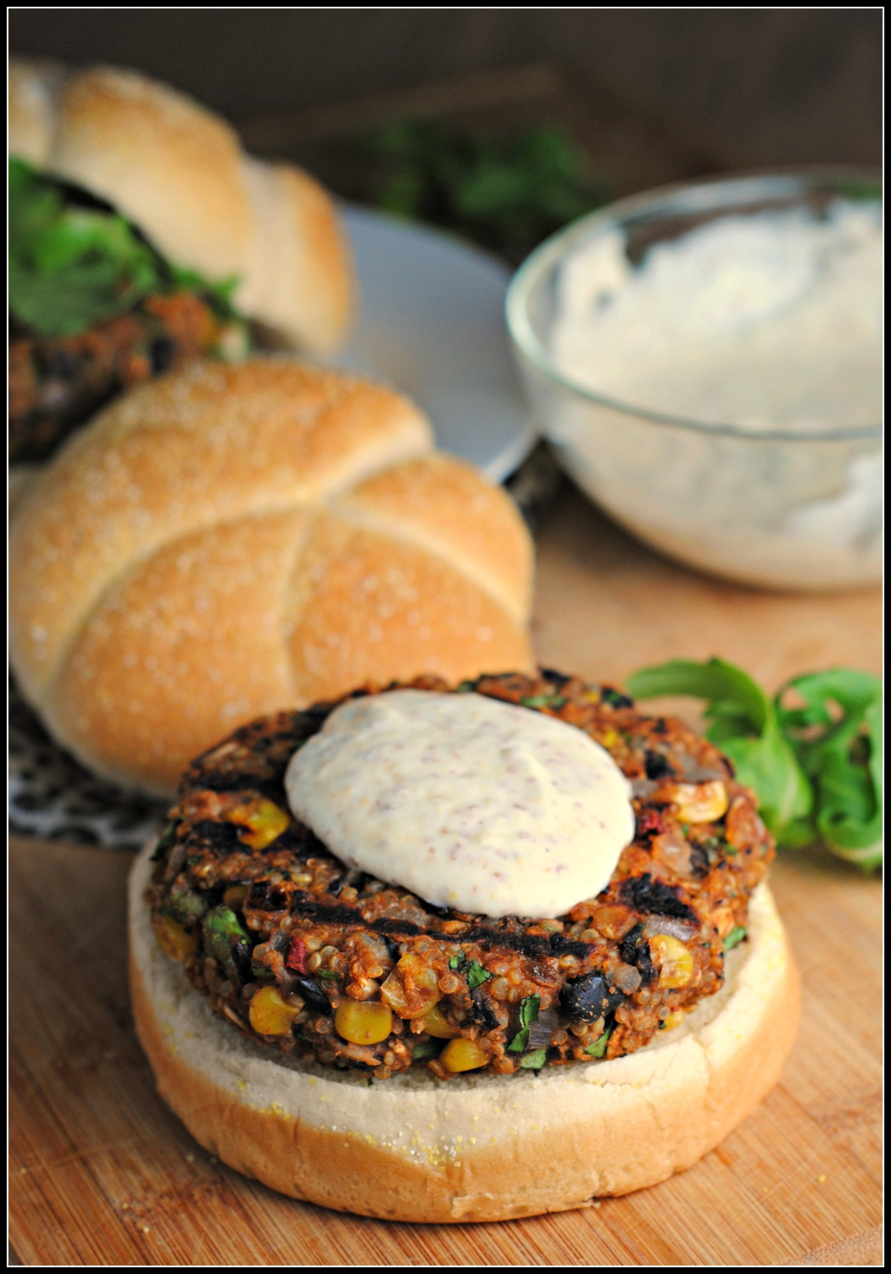 Black Bean & Quinoa Burger