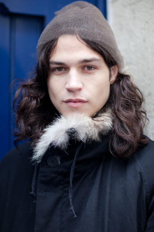 @Miles_McMillan before Tillman Lauterbach FW13  See photos from the show here