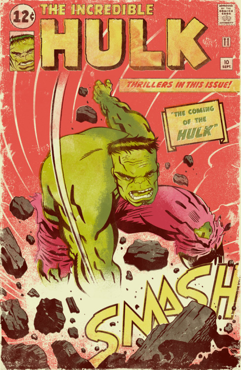 xombiedirge:  The Incredible Hulk & Captiain America by Kevin Howdeshell