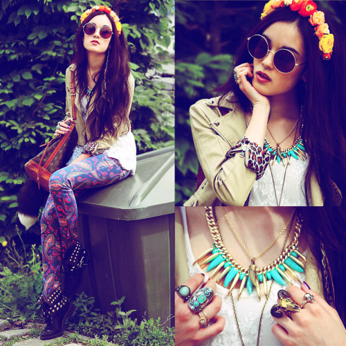 lookbookdotnu:  I miss you… (by Anna Alessandra Kamaile Deller - Yee)