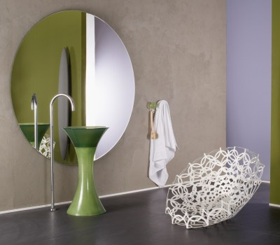 CALICE by REGIA | Design Bruna Rapisarda http://bit.ly/VzjZmF A generously sized pedestal washbasin with a strong design personality.