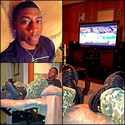 Kickin back Watching the Knicks/Pacers game. 📺🏀
