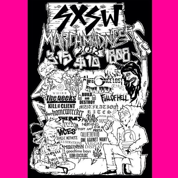 Soooo excited to play with all these sick bands. #bandofnothing 11:15 #whirr  12:30 #sxsw  (at Club 1808)