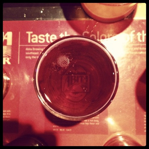 Down glass shot. #beer #abita