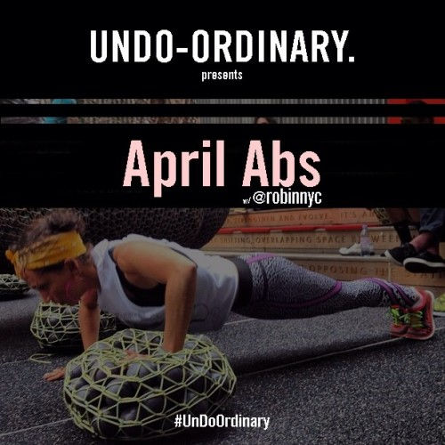 shutupandrun:  April Abs. Strengthen from the inside out. Core work yields benefits in even the most seasoned runners. Undo Ordinary with the plank-a-day challenge. 30 seconds. Every day. You can do anything for 30 seconds. April Abs start now.            New challenges each week @undoordinary_.