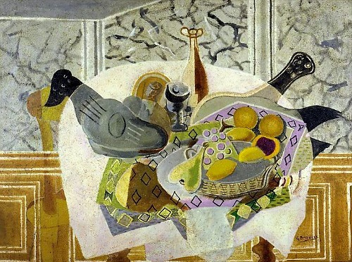 Georges Braque The Mauve Tablecloth 1936