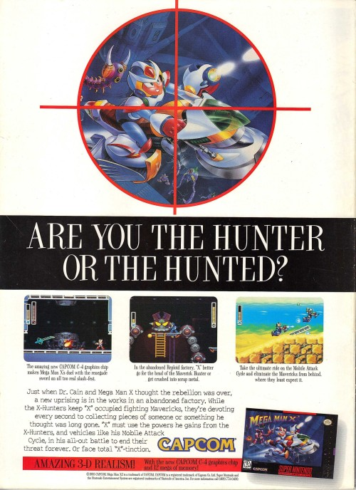 vgjunk:  Mega Man X2 advert.