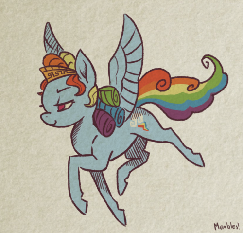 Pseudo-Greek Rainbow Dash? Sure.