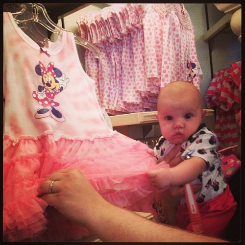 Lorelei was caught stealing #cute #minniemouse #baby #disneyland