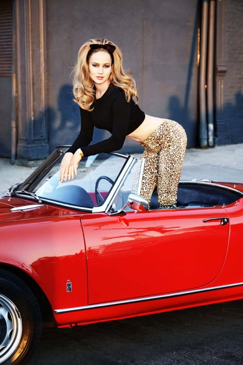 likeloveadore:   Jennifer Lawrence by Ellen von Unwerth, 2013  OH MY GOD YES