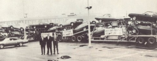 1970 Plymouth AAR Cuda's by the truck loads with a Superbird for good measure. If we only knew then what we know now….