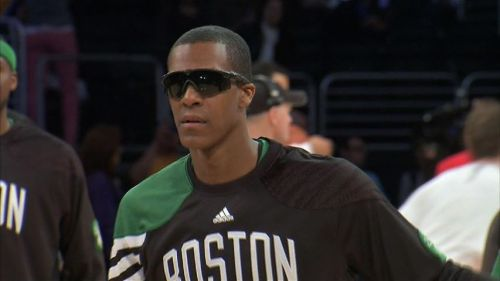 "nbaoffseason:  Rajon Rondo is one of the most interesting players to ever play in the league. He rollerskates, plays Angry Birds, wears Bret Hart shades before the game and zany jackets after, tucks lip balm in his sock at all times, eats his sushi with Gatorade, was an intern at GQ, and perhaps his most fascinating trait: performing weird routines before and after tip-off.  According to teammate Jason Terry in a recent ESPN interview:   ""His routine is long-winded and it lasts all the way through tip-off. It starts in the back hallway. He runs down a corridor and he throws the ball to our team chaplain, who throws it back. Then [Rondo] runs out into a circle, high-fives the whole team and then he does the layup lines for five minutes. ""Then he will stand under the goal and Paul Pierce will shoot every ball on the rack from half court. Rondo will catch four balls at one time and then after that, it's just amazing — one pass off the backboard to KG, one bounce pass to Paul Pierce and then he throws it all the way up to the scoreboard and Jeff Green finishes with an alley-oop. ""It's every game, even road games. I have no idea how he started it; I'm new to the team. I was still going through layup lines and I almost got hit with one of those balls in the head. I wasn't aware that's what they were doing. It threw me off.""   Never change, Rajon. (via BostInno)"
