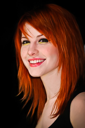 omghayley:  My painting of Hayley Submitted by hanawasakura.
