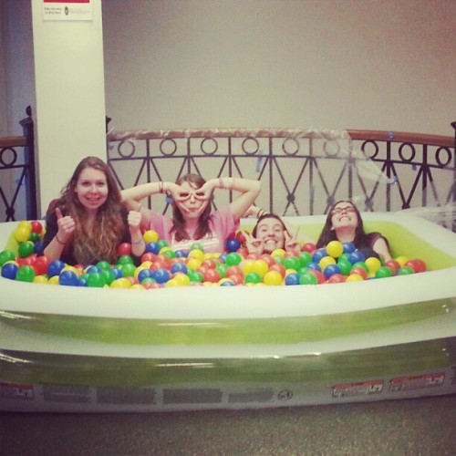 Ball pit with my besties :)