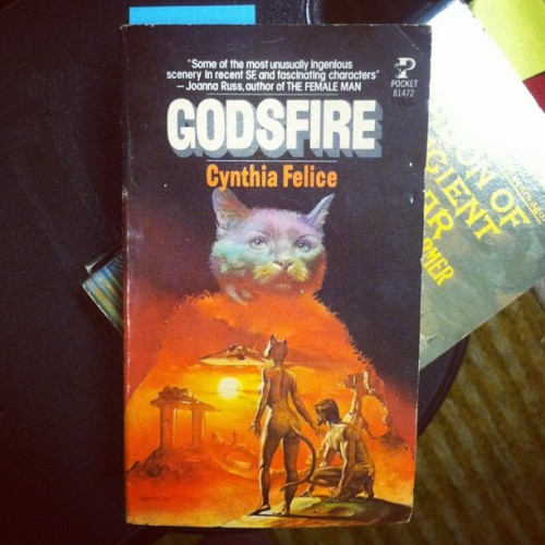 Science fiction novel of the day goes to 'GODSFIRE' …Cat aliens with human slaves…sure why not. #catsofig #space #sciencefiction #wilsonsbookworld #dtsp #stpete #stpetersburg #tampa #usedbooks #vintagebooks #vintage #books #bookstore   (at Wilson's Book World - Comic Room)