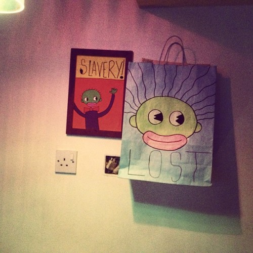 @artbyomni canvases and paintings at @DeadPoetsTweet last night in Leeds.  Follow @artbyomni for more artworks   #canvas #painting #sketch #drawing #slavery #yolo #lost #music #art #culture #socialcommentary #truth #creativity #innovation