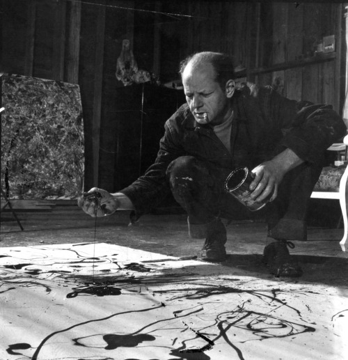 life:  Happy birthday, Jackson Pollock. Here, photos of the painter by LIFE's Martha Holmes from 1949.