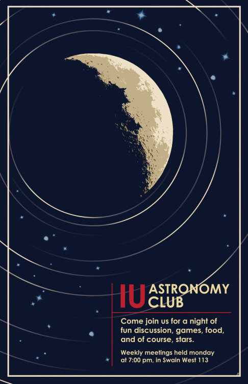 IU astronomy club poster by ~ShadowRaven697