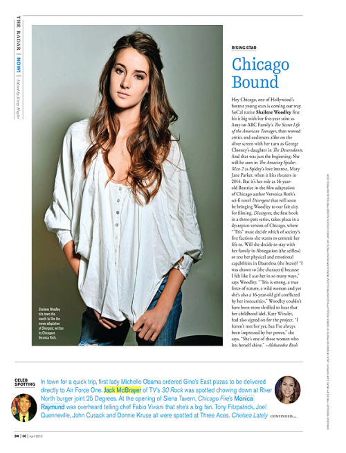 My photo of Shailene Woodley in Modern Luxury : CS. Shailene will be the female lead in the new Spider Man movie out next year! Can't wait to see!